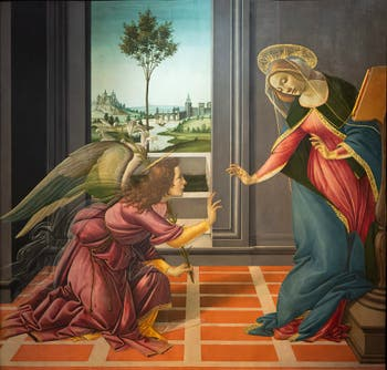 Botticelli, The Annunciation of Cestello, Uffizi Gallery, Florence Italy