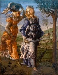 Botticelli, Judith's Return to Bethulia with the Head of Holofernes, Uffizi Gallery, Florence Italy